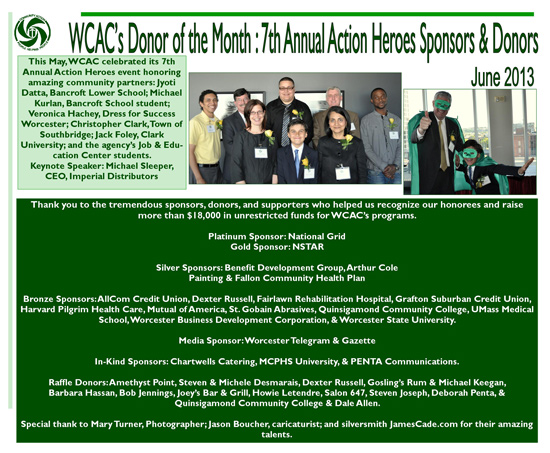 Donor of the Month - June 2013