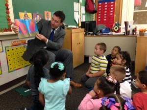 HS Sen Fattman reading to kids