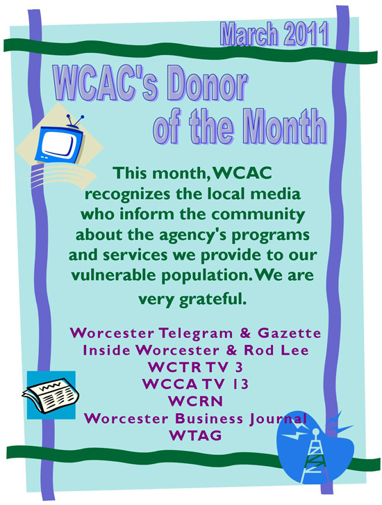 Donor of the Month - March 2011
