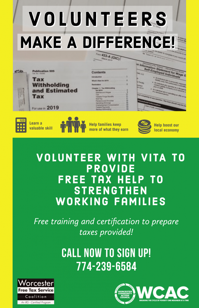 Volunteer Income Tax Assistance Program Worcester Community Action Council